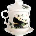 Чашка с Колбой Бамбуковые Мишки